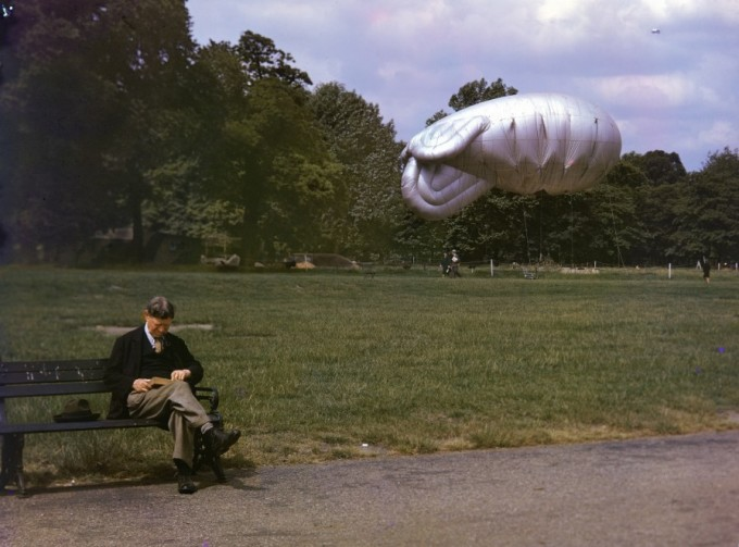 Barrage Balloon in WWII London